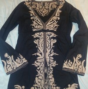 *Almost* Vintage Lucky Brand Embroidered Tunic